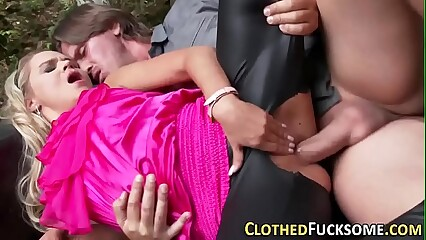 Jizz mouthed clothed euro