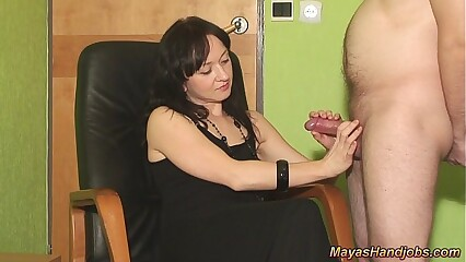 2 cumshots on Maya clothes