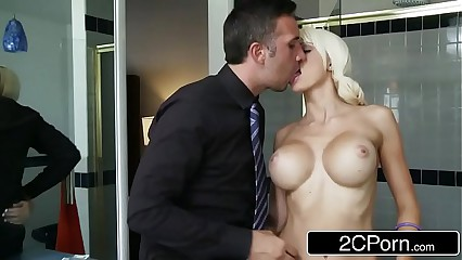 Young Blonde Bimbo Rikki Sixx Getting Paid in Cock