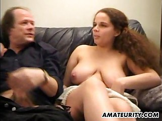 Busty girlfriend anal fuck in front of her mom
