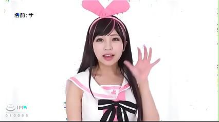 Abeno Miku haciendo un cosplay de Ai Kizuna