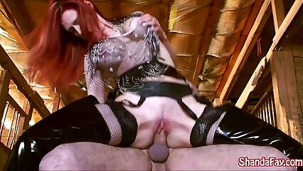 Canadian Cowgirl Shanda Fay Gets Fucked in the Barn!