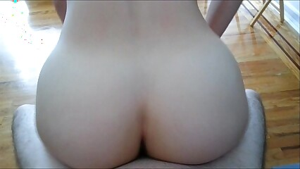 Riding reverse, doggy, and creampie at the end