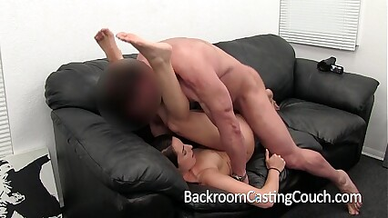 Girl Next Door Gets Ambush Creampie on Casting Couch