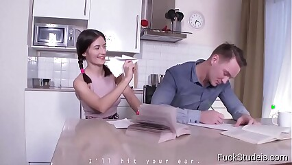 FuckStudies.com - Ambika Gold - The cute virgin tries anal