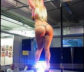 Dancing slut in high heels