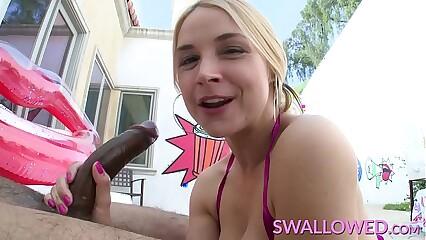 SWALLOWED Insane deepthroat blowjob from Sarah Vandella