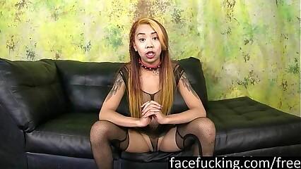 Asian Nympho Kimberly Chi Deepthroats Cocks