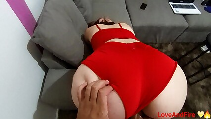 Fucking my stepdaughter with her wearing short shorts