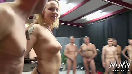 MMV FILMS Crazy German Gangbang