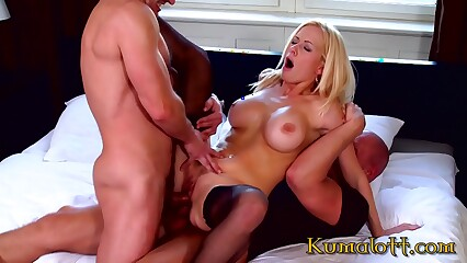 Kumalott - Ass To Mouth Double Penetration Hard Sex For Blonde with big boobs