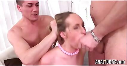 Rare Pig Tailed Anal Double Penetration Teen Slut