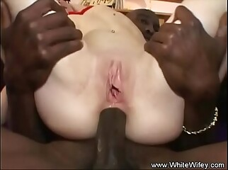 Gaping Interracial DP Anal Redhead