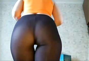 Big Butt Giselle Works Out in Pantyhose - Fuck Scene @ FappyCams.com