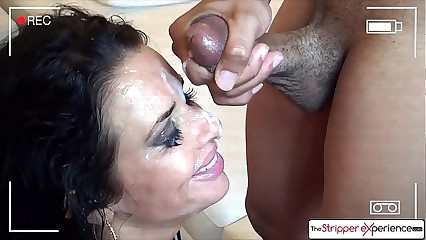 Sexy MILF Veronica Avluv sucking six big cocks