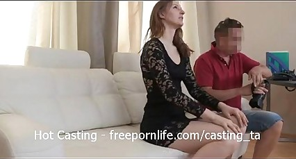 Tall Blonde Teen Gets Casting Action