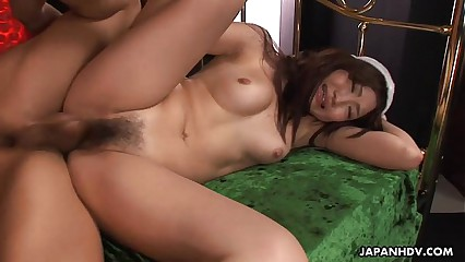 Asian babe getting her wet pussy creamed deep