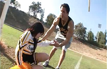 Brunette Cheerleader Loves Hard Cock
