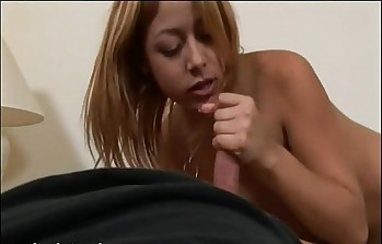 handjob with skinny asian cheerleader