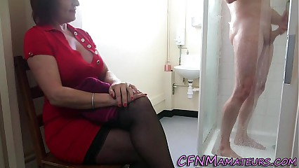 Spying cfnm mature lady
