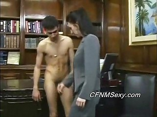 Tim's boss fucks him in the ass after spanking and vibrator