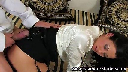 Classy bitch takes cock doggystyle