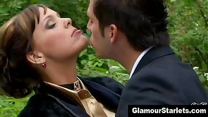 Glam clothed fetish slut