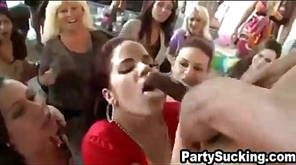 BBW Sucking Strippers at Party