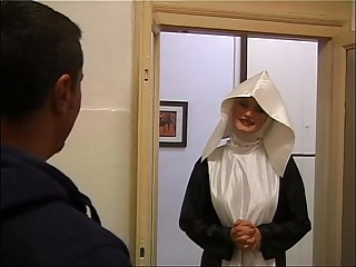 Depravate NUN for a Brave Cock