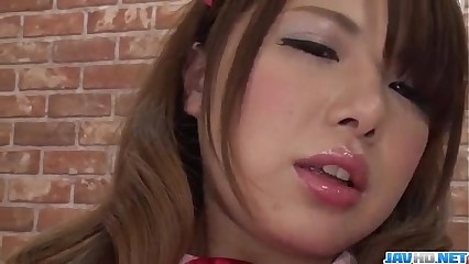 Reika Ichinose tries toys up her cramped pussy and mouth