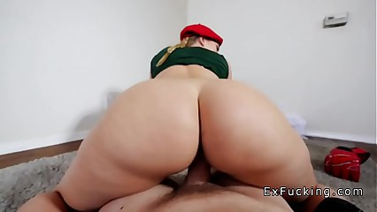 Bf with big cock bangs big butt hottie