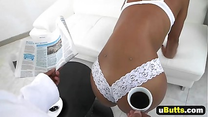Amazing Black Girl Nicole Bexley Takes Care Of Boyfriend's Morning Wood