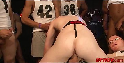 whore gangbanged by 50 dudes 022