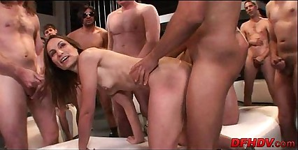 whore gangbanged by 50 dudes 110