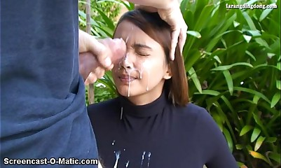 Nina Suckretary Facial cumshot face sperm