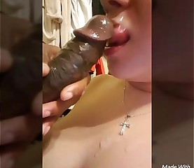 Latina Deepthroats BBC for Cumshot