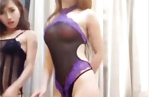 Chinese camgirls dance