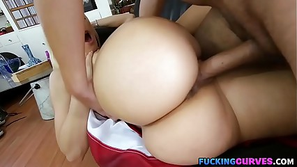 Blonde With Big Monster Booty Fucked