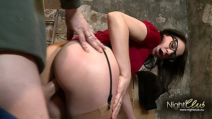 Nerd Girlfriend Fucked in the Dungeon