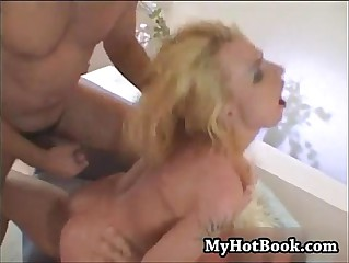Alison Berry attempts a double penetration blowjob