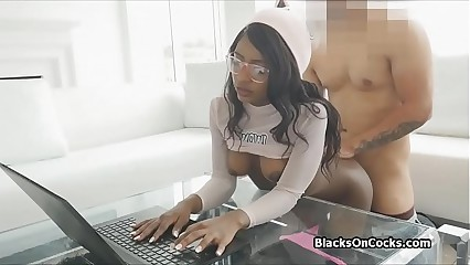 Study n fuck with perky ebony gf