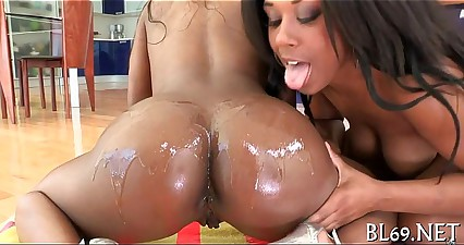 Lots of orgasms for a darksome bitch