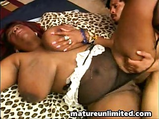 Ebony cock for ebony mouth..handjob work