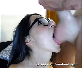 GF gets a load of neighbor's jizz
