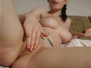 Big tits girl fingeringy