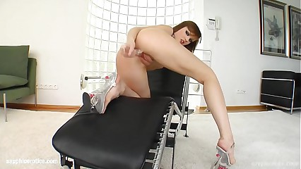 Masturbating Mya enjoying herself on Sapphix