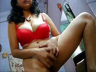 Bengali Bhabhi Savita Masturbating Fingering Her Hairy Indian Pussy