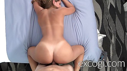 Fit Blonde First Timer Fucked and Facialed