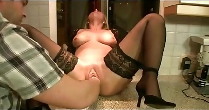 German Milf Fisted with Beer Bottle, FistingPussy.biz