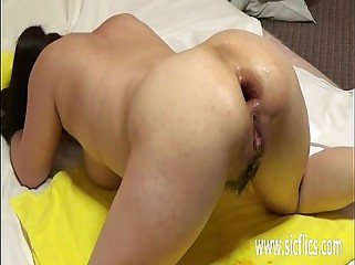 Brutal double anal and pussy fisting destruction